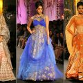 lehengas in blue, nude etc