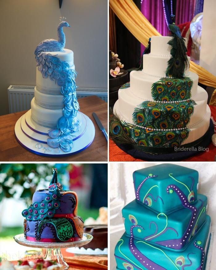 Peacock Feather Wedding Cake: Gorgeous Indian Wedding Cakes