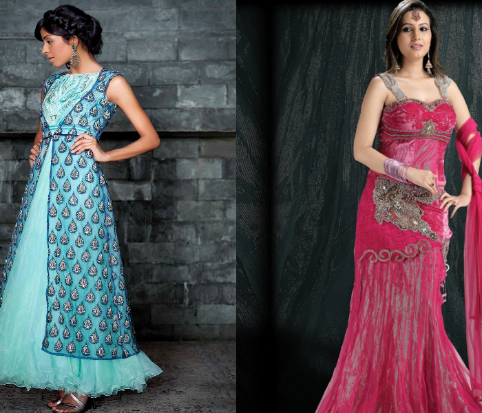 Trends In Indo Western Fusion Bridal Wear - India's Wedding Blog ...