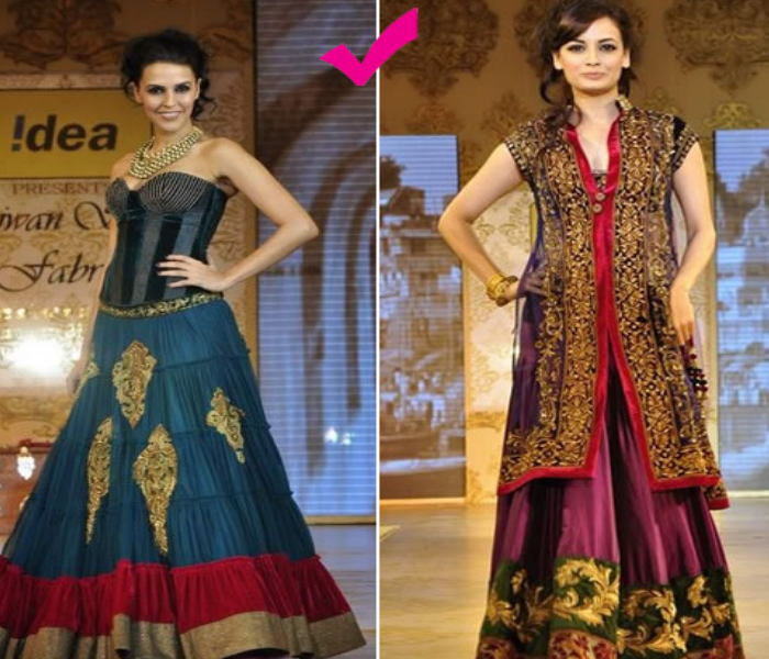 trends in indo western fusion bridal wear indias