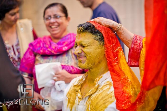 groom's haldi ceremony