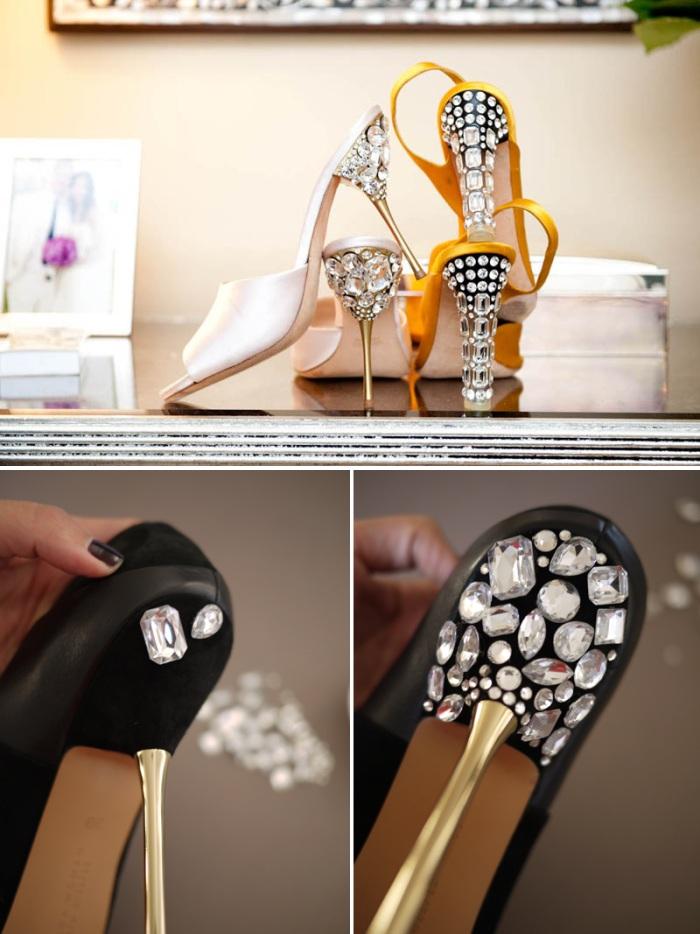 Diy Bling Wedding Shoes Diy Wedding Shoes Rhinestones