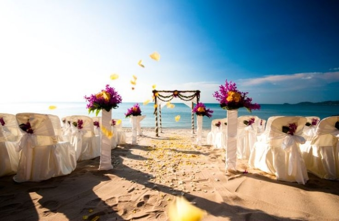 Southeast asia beach wedding