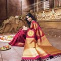 Wine Wedding sarees