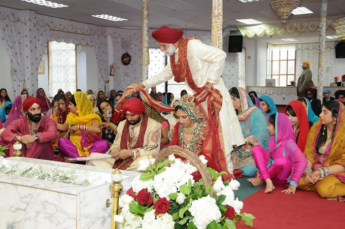 Real Weddings: Sandeep&Rich's Sikh-Christian Fusion Wedding by The
