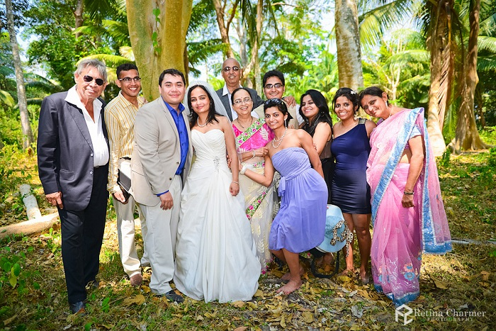 Intimate beach wedding with 11 guests