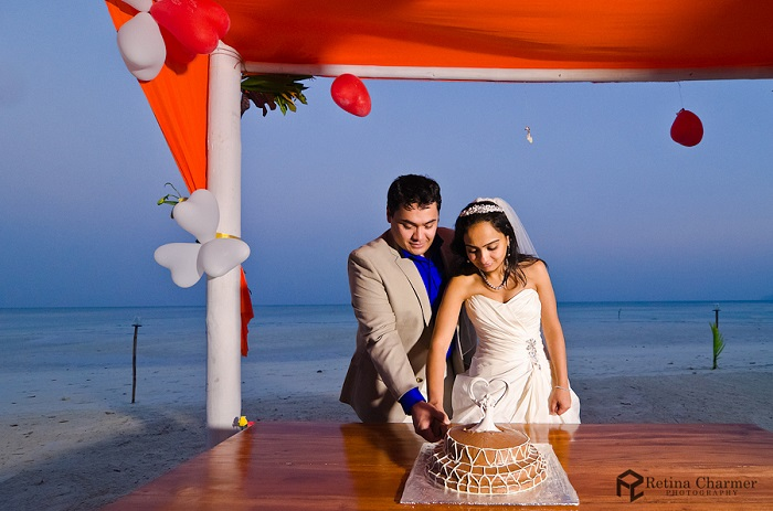 Indian Christian wedding on the beach