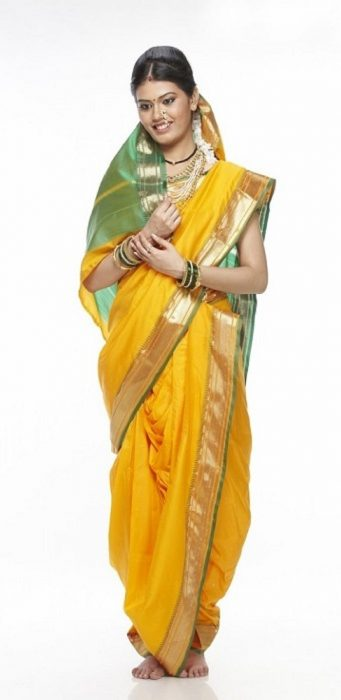 Traditional nauvari saree
