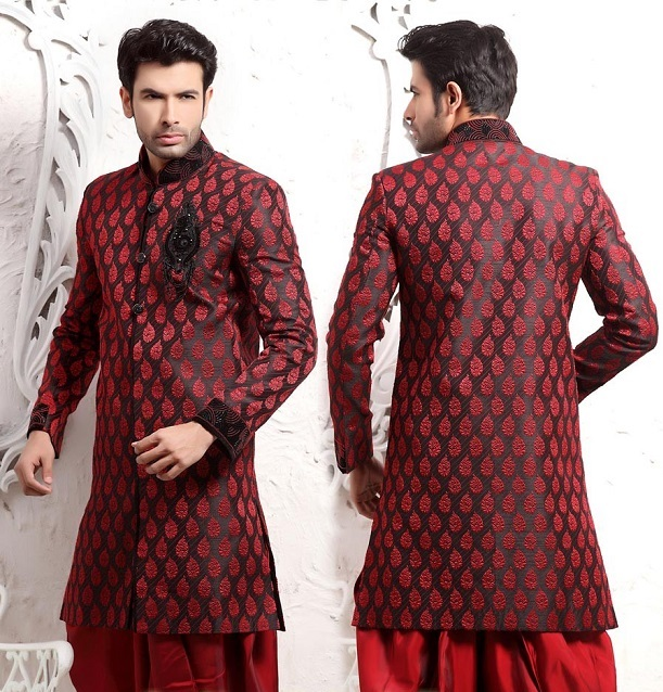 Indian grooms wear in Marsala-Pantone colour of year 2015