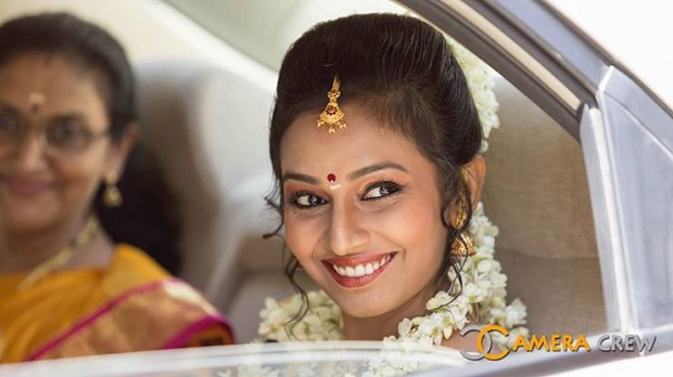 South Indian hairstyle real bride