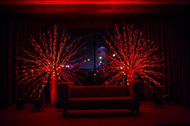 red wedding decor Indian wedding