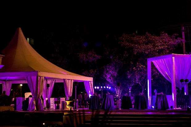 purple wedding decor real Indian wedding with purple decor