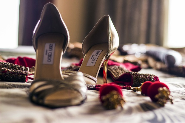 JimmyChoo shoes for Indian bride