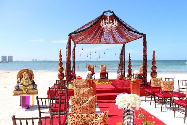 indian beach wedding