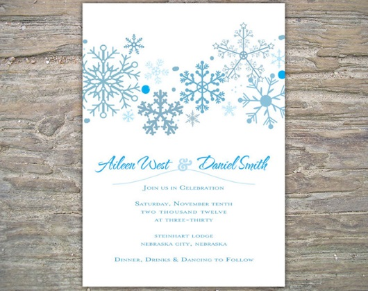Winter Wedding Invitation Wording: Winter Wedding Series: Winter Wedding Invitation Cards