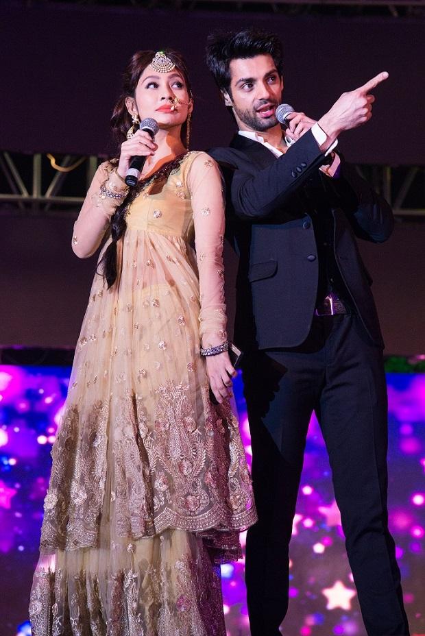 TV actor Karan Wahi & anchor Sunanda Wong emceeing at a wedding in Jodhpur
