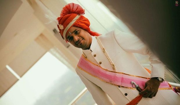 The groom real Indian wedding in Daman by Confetti Films