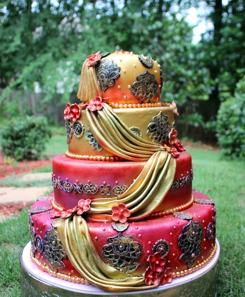 Wedding Cakes Inspired By China Patterns: These 10 Wedding Cakes With An Indian Theme Are The Best