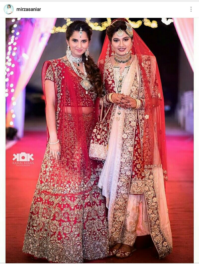 Take Inspiration From Sania Mirzas Looks On Her Sisters Wedding