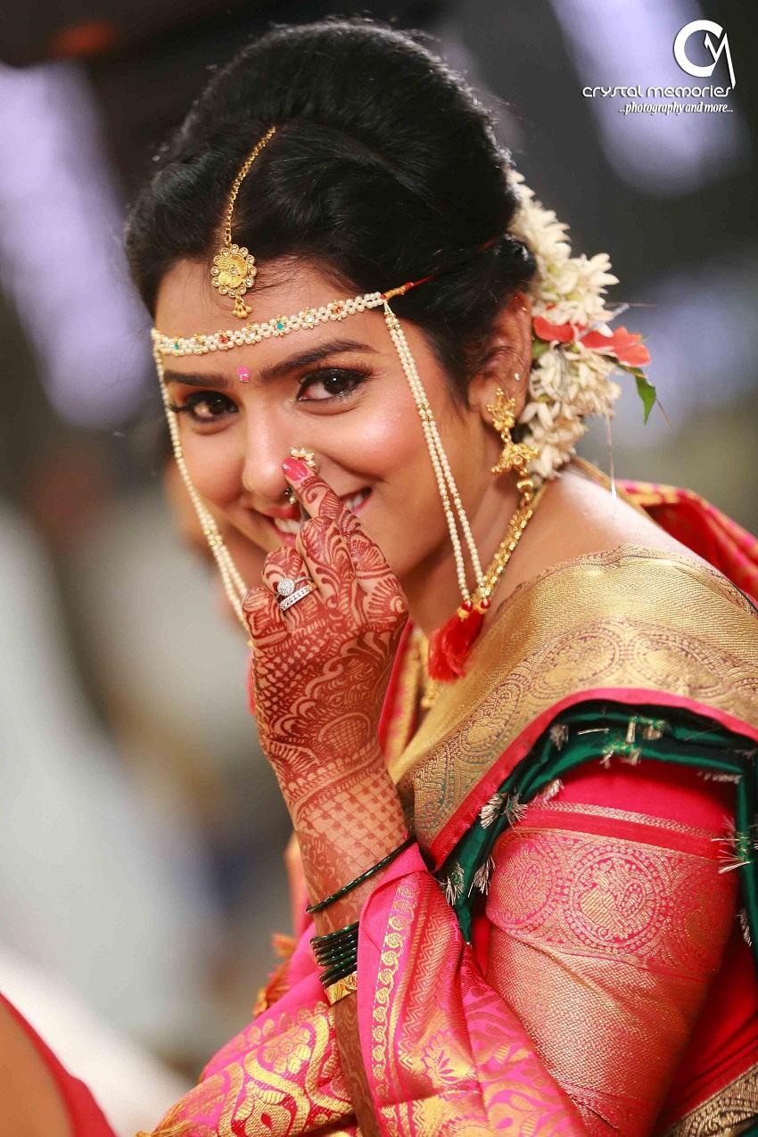 Marathi bridal hairstyle  |Hindu Marathi Wedding