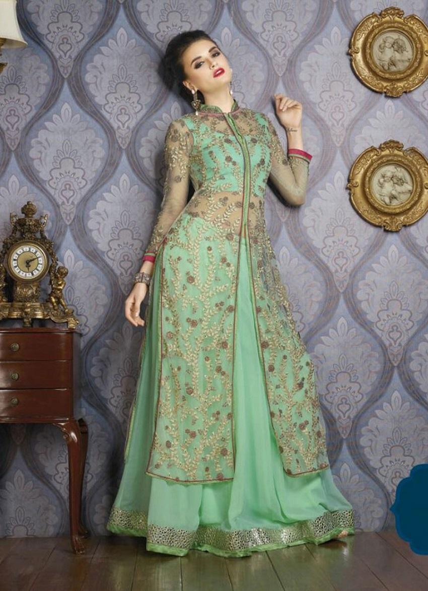 10 Wedding Lehengas In Pantone Colour Of 2017 Greenery