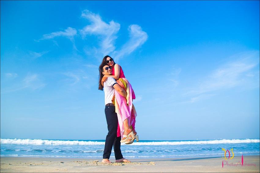 fusion Marwari Tamil destination wedding in Goa