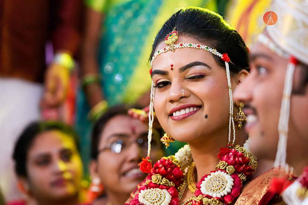 bride and groom real wedding by Sanjeev Mathu photography