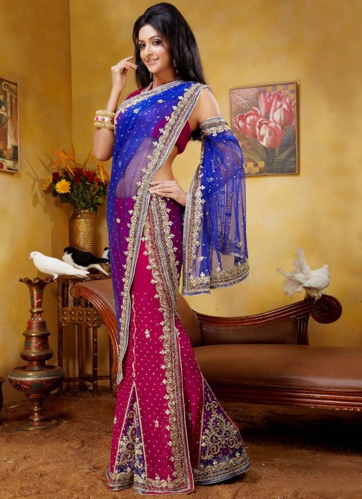 Elegant And Hassle Free Lehenga Sarees India S Wedding Blog