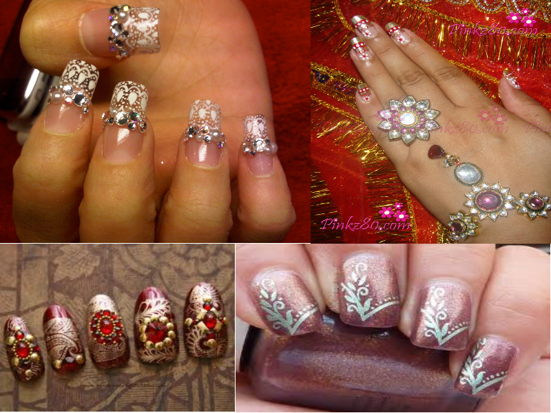 Sparkle On Your Wedding Day With Fabulous Nail Art Designs Indias