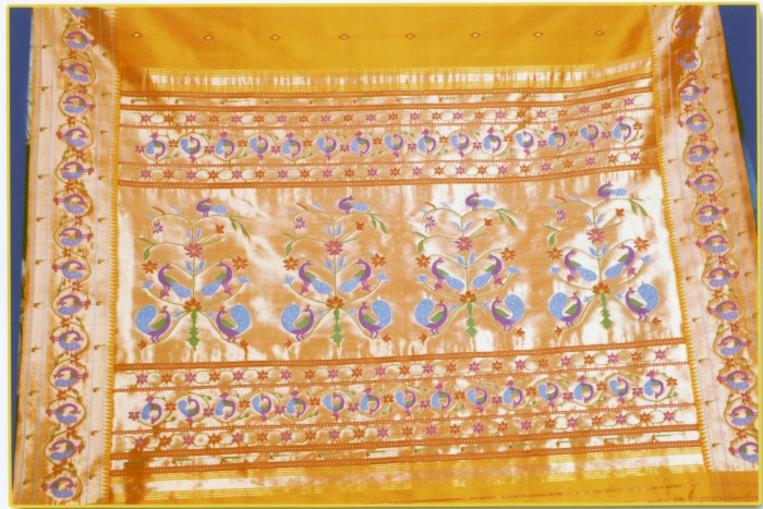 yellow paithani-paithanishalucom inr 95000