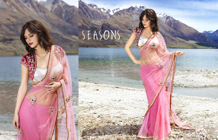 pink sari