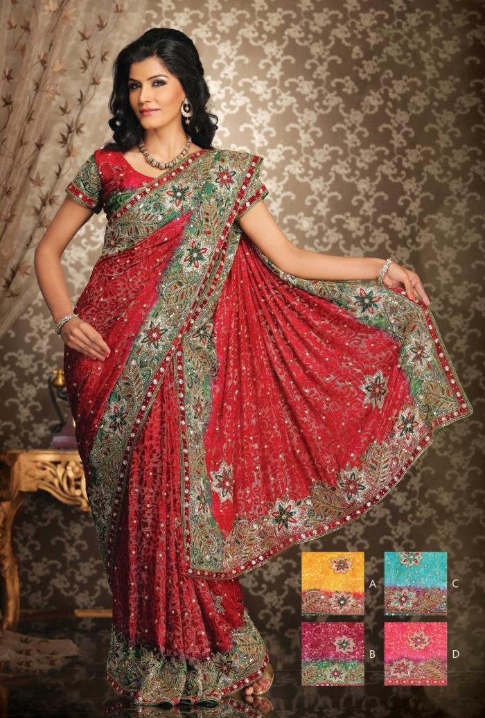 red saree1