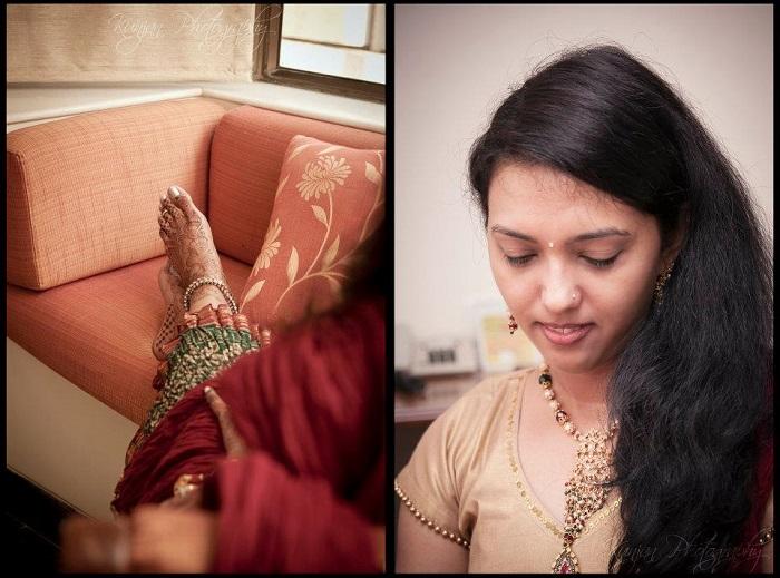 bride and mehendi