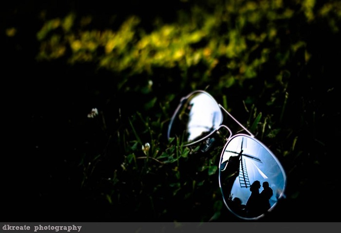 image in a sunglass