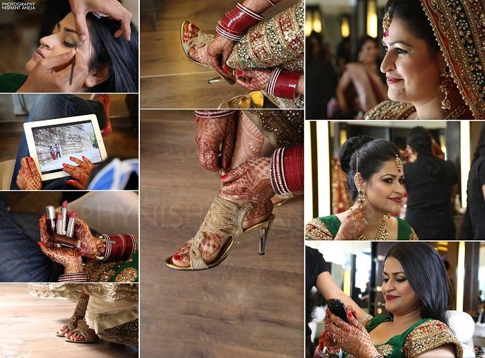 nishant aneja Kanchan makeup shoot