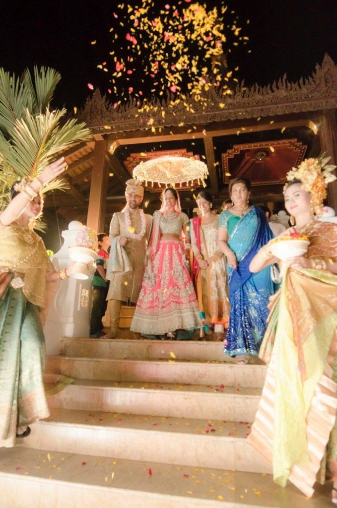 Gorgeous Indian bride in pink lehenga