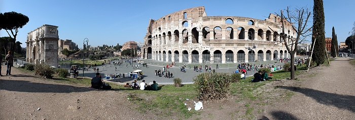 Colosseum_and_Arch_of_Costantine