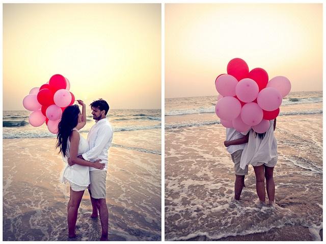 Romance on beach