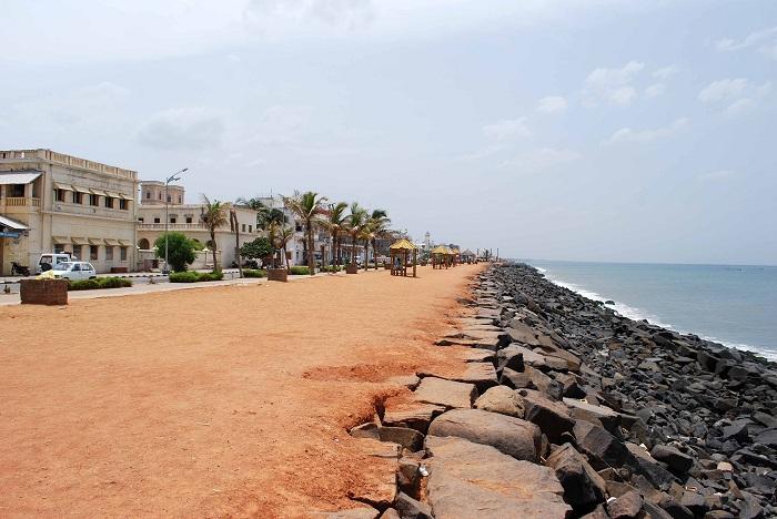 Beach Promenade in Pondicherry