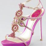 pink fuschia wedding heels for Indian brides