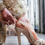 Matching Indian bridal footwear