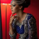 Multiple strands Indian bridal hair accessory