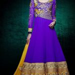 royal blue anarkali suit