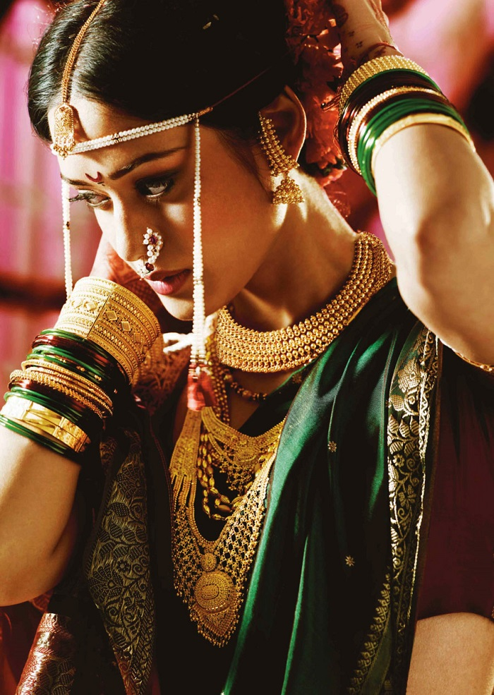 A typical maharashtrian bride