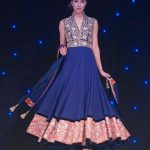 manish malhotra anarkali navy blue