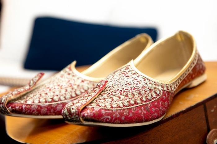 Indian groom footwear