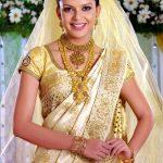 Kerala saree Christian bride