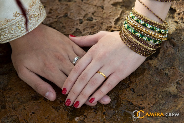 Bride's hands
