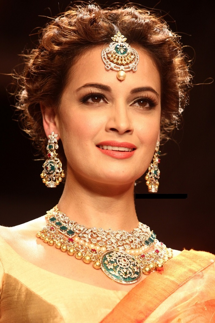 Dia Mirza at the Indian International Jewellery week 2014