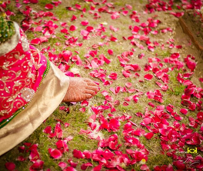 Indian wedding petals